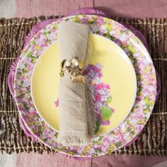 Lilac Branch Melamine Side Plate