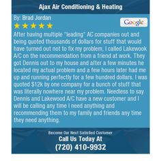 """After having multiple """"leading"""" AC companies out and being quoted thousands of dollars for..."""