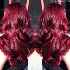 sublime colors for this winter: trendy hair color patterns winter New Hair Color Ideas Red Violet Hair, Red Brown Hair, Bright Red Hair, Red Hair Color, Hair Colors, Burgundy Red Hair, Cherry Cola Hair Color, Elumen Hair Color, Cherry Red Hair