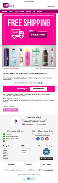 Hair & skin products: temporary free home delivery! Mail Marketing, Hair Today, First Names, Hair Loss, Skin Products, No Worries, Hair Care, Have Fun, Campaign