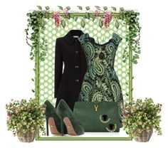 The green garden. by nadia-nibte on Polyvore featuring polyvore, fashion, style, Marc Jacobs, Wallis, Sergio Rossi, Yves Saint Laurent and clothing