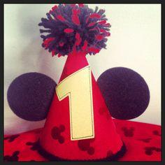 Mickey party hat with Pom Pom. $17.00, via Etsy.