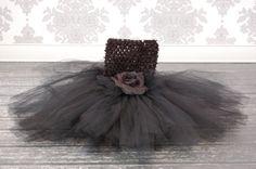 Black Fower Girl Tutu Dress by PoshPixieTutu on Etsy, $69.99