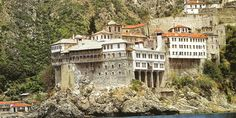 Monastery of Gregoriou in Athos Macedonia Greece, Athens Greece, Visit Greece, Christian World, Mountain Climbers, World Heritage Sites, Monuments, Wilderness, Backdrops