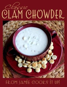 This simple winter recipe for Classic Clam Chowder from Jamie Cooks It Up! is just what you've been looking for for a cozy night in. Made with some of your favorite hearty veggies, this clam chowder recipe is a must-have this winter.