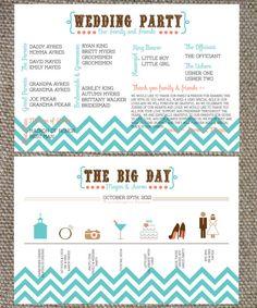 DIY Modern Rustic Wedding Program by stellajenn on Etsy, $25.00