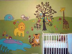 Decorated babyroom