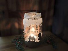 Jak vyrobit vánoční lucernu z obyčejné sklenice