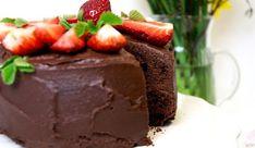 Vláčný čokoládový dort
