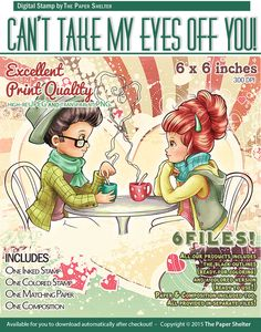 Can't take my Eyes Off You - Digital Stamp