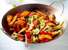 Hähnchen-Gemüsepfanne Rezept | LECKER