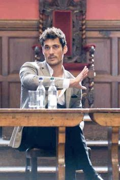 David Gandy speaking at Oxford Fashion Week