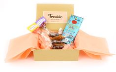 Get curated sample boxes of high-end artisan sweets with the Treatsie monthly subscription box - from amazing caramels to chocolate truffle bars to some of the best cookies you'll ever eat.