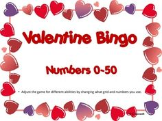 Valentine Bingo-For A Variety Of Levels