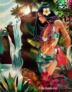 Island Girl, Beautiful Islands, Art Girl, Google Images, Disney Characters, Fictional Characters, Disney Princess, The Originals, Painting