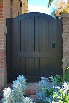 Custom Wood Gate by Garden Passages  www.gardenpassages.com #Furniture&WoodworkingPlans