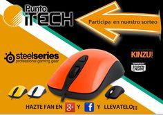 Gana un ratón Gaming de Steelseries Kinzu V2 con PuntoITech.