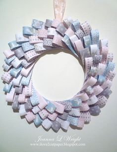 i love 2 cut paper: Paper Wreath using Holiday Frosting Paper Pack
