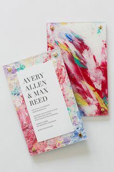 Modern Painting invitation #uniqueweddinginvitation #modernart #yonderdesign