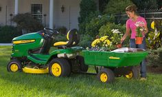 Carry & Tow Ride on Mower Attachments