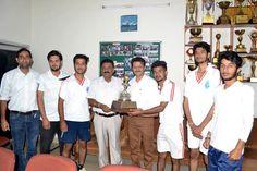 Winners receiving trophy from Prof Avtar Singh Jasrotia.