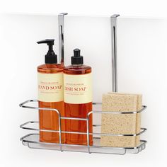 Lynk Professional Over Cabinet Door Organizer - Tall Shelf with Molded Tray Chrome. Lynk Professional Over Cabinet Door Organizer - Tall Shelf with Molded Tray Chrome (Grey) Tall Shelves, Door Shelves, Kitchen Shelves, Kitchen Counters, Kitchen Cart, Kitchen Storage, Kitchen Cabinets, Under Sink Organization, Sink Organizer