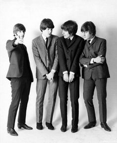 Alternate photo from cover shoot for Beatles '65 album.  <3