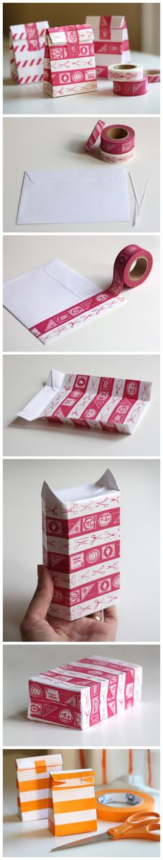 DIY Packing: Make a mini-bag from a envelope