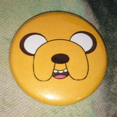 """Button Badge Adventure Time """"Jake Face"""""""