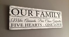 """Family Day Giveaway! Enter to win a custom """"Our Family"""" sign!   Here's how to play:  1. Like this post 2. Tag a friend in the comment section of this post - each additional comment with a tag will count as an additional entry so feel free to comment and tag as much as you like! (Remember to post one name PER comment :)   Winner will be randomly selected and posted on our page on Family Day (Monday) at 9pm so be sure to make sure to check back then!  Good Luck to all!"""