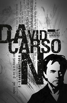 Poster for David Carson speech David Carson Design, David Carson Work, Typo Poster, Typographic Poster, Graphic Design Posters, Graphic Design Typography, Poster Designs, Graphic Designers, Book Design