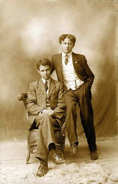 Photo studio image of two men, circa 1910 | Flickr - Photo Sharing!