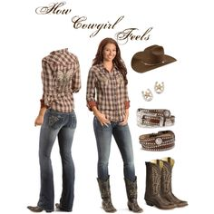 A fashion look from February 2013 featuring Miss Me jeans, Miss Me and Old West boots. Browse and shop related looks. #CountryGirlOutfit