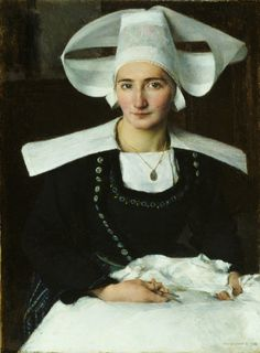 Jean Pascal Dagnan-Bouveret (ca. 1852-1929): 'A Breton Woman', 1886