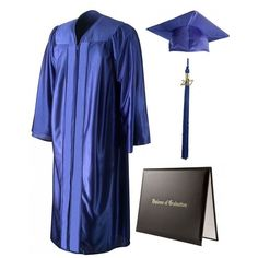 Shiny Royal Blue Cap, Gown, Tassel Diploma Cover (95 BRL) ❤ liked on Polyvore featuring accessories, hats, graduation, graduation cap, cap hats, royal blue graduation cap, tasseled cap and tassel hat
