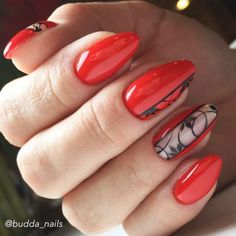 Red Nails Designs For Any Occasion ★ See more: http://glaminati.com/red-nails-designs/