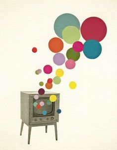 Colour Television by VioletMay. This would be nice if instead of a TV, the colour came from a book