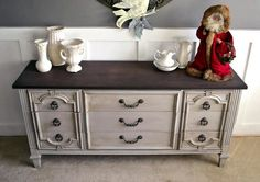 Seagull Gray and Java Dresser | General Finishes Design Center
