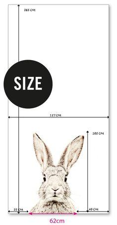Een magneetbehang met reuzen groot konijn - Groovy Magnets