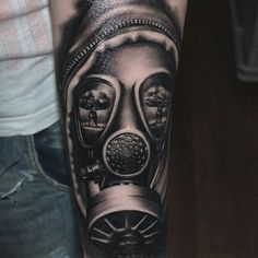 Gasmask tattoo by virlaneduardtattoo (IG)