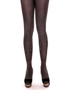 Manzi Womens Grey Texture Tights  One Size  Black * You can find more details by visiting the affiliate link Amazon.com.
