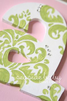 Hand Painted Nursery Letters by SeasideBabyBoutique on Etsy, $18.00
