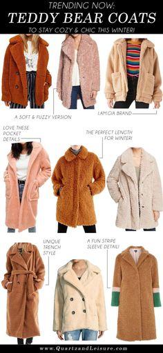 Trending Now: The Teddy Bear Coat - Quartz & Leisure Teddy Bear Jacket, Teddy Coat, Fashion Trends 2018, Trending Now, Autumn Winter Fashion, Winter Outfits, Casual Outfits, Girly Outfits, Fashion Outfits