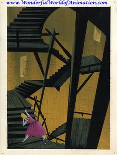 Mary Blair concept art for Disney's Cinderella