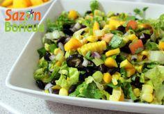 Ensalada de mango, frijoles, ma�z y cilantro