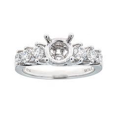 Natalie K. 14K White Gold & Diamond Engagement Ring