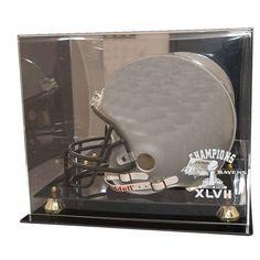 Baltimore Ravens Super Bowl 47 Champions Deluxe Full Size Helmet Display Case