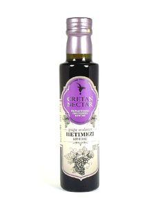 Sirup aus eingedicktem Traubenmost. #Petimezi und #Balsamicoessig sind aus der alten, sehr aromatischen kretischen Traubesorte hergestellt, ohne Konservierungsstoffe. #Petimezi wird auf Kreta genutzt zum Verfeinern von Süßspeisen, Eiscreme und Backwaren. Mehr finden Sie unter  http://gutesvonkreta.de/Cretan-Nectar-Petimezi-250-ml Cretan Nectar Petimezi 250 ml