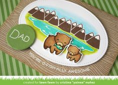 https://flic.kr/p/GbrvSQ | Awesome dad - detail | Lawn Fawn Summer release - Dad + Me  Blogged here: mypaperjourney.blogspot.com/2016/05/dad-me-stitched-mount...