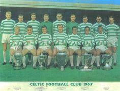 """El Penta Campeón """"CELTIC FOOTBALL CLUB"""" De Glasgow, Campeon de la """"GLASGW CUP"""" """"LEAGUE CHAMPIONSHIP CUP"""" """"EUROPEAN CUP"""" """"SCOTTISH CUP"""" y """"LEAGUE CUP"""" 1967."""